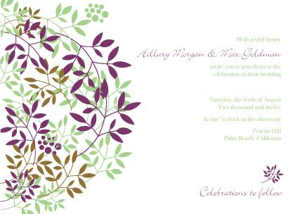 Wedding Invitation - Leafy Cluster