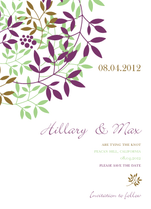 Save the Date Card - Leafy Cluster