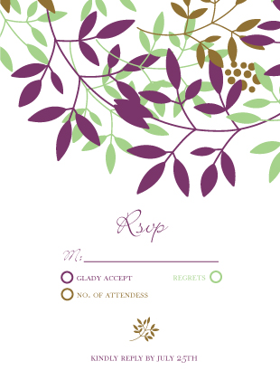 Response Card - Leafy Cluster