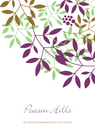 Reception Card - Leafy Cluster
