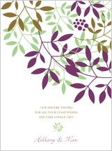 Wedding Thank You Card - leafy cluster