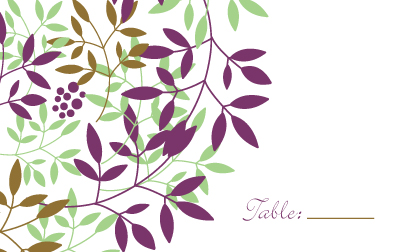 Place Card - Leafy Cluster
