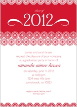 Graduation Party Invitation - commencement circles