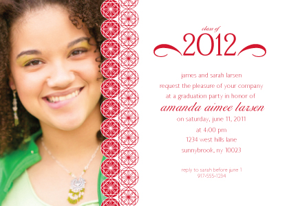 Graduation Party Invitation - Commencement Circles with Photo