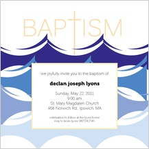Baptism Invitation - baptism waters