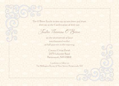 Confirmation Invitation - Religious Scrolls