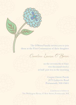 First Communion Invitation - Religious Charm