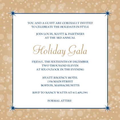 Holiday Party Invitations - Magical Holiday