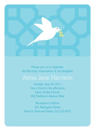 First Communion Invitation - Flight