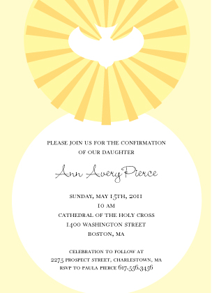 Confirmation Dove - Confirmation Invitation | Look Love Send