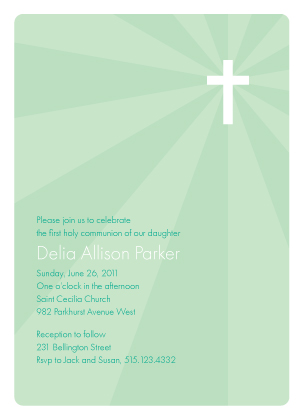 First Communion Invitation - Holy Light
