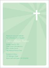 Confirmation Invitation - holy light