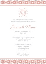 First Communion Invitation - modern star
