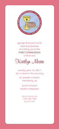 First Communion Invitation - Stained Glass Window
