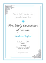 First Communion Invitation - communion time