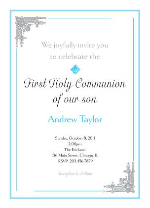 First Communion Invitation - Communion Time