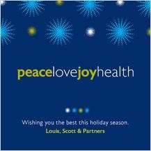 Christmas Cards - peace love joy health