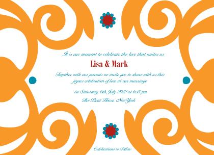 Wedding Invitation - Motif Blend