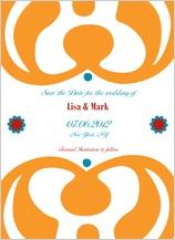 Save the Date Card - motif blend