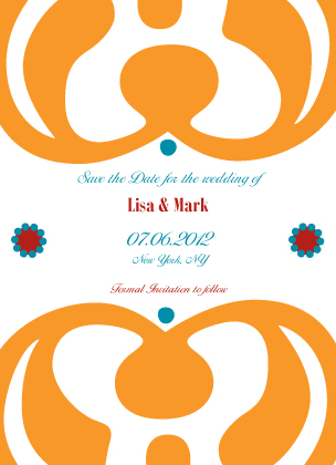 Save the Date Card - Motif Blend
