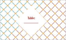 Place Card - motif blend