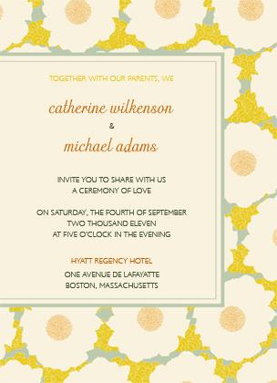 Wedding Invitation - GENTLE FLOWER