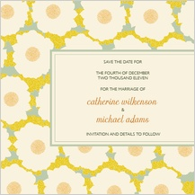 Save the Date Card - gentle flower