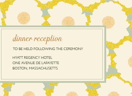 Reception Card - GENTLE FLOWER