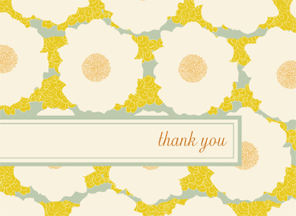 Wedding Thank You Card - GENTLE FLOWER