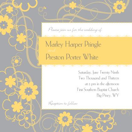 Wedding Invitation - Swirling Blooms