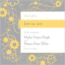 Save the Date Card - swirling blooms