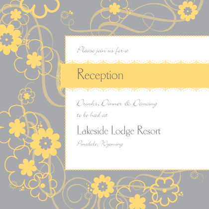 Reception Card - Swirling Blooms
