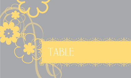 Place Card - Swirling Blooms