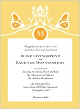 Wedding Invitation - double butterfly