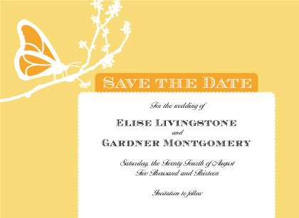 Save the Date Card - Double Butterfly