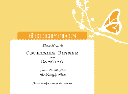 Reception Card - Double Butterfly
