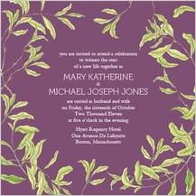 Wedding Invitation - fresh leaves