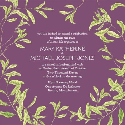Wedding Invitation - FRESH LEAVES