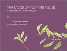 Response Card - fresh leaves