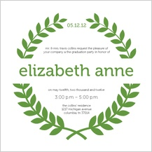 Graduation Party Invitation - laurel wreath graduation