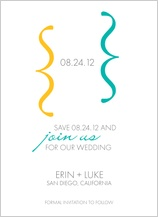 Save the Date Card with photo - wedding dialouge
