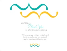 Wedding Thank You Card - wedding dialouge