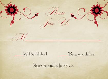 Response Card - Scarlet Swirls