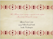 Reception Card - scarlet swirls