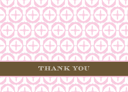 Baby Thank You Card - Butterfly Baby