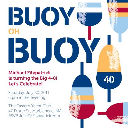 Birthday Party Invitation - Buoy Oh Buoy!