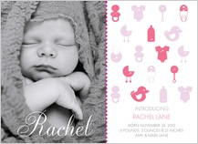 Birth Announcement with photo - sweet nothings