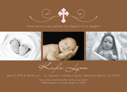 Baptism Invitation - Simple Cross Baptism
