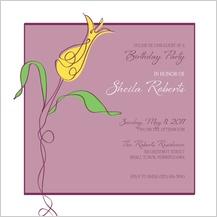 Birthday Party Invitation - artsy tulip
