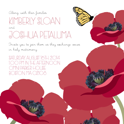 Wedding Invitation - Poppy Love
